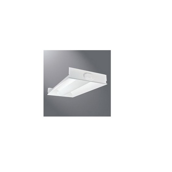 Cooper Lighting 2RDI-232RP-UNV-EB81-U Ovation™ 2-Light T8 Center Mounted Linear Fluorescent Recessed Troffer; 32 Watt, White Enamel, Lamps Not Included