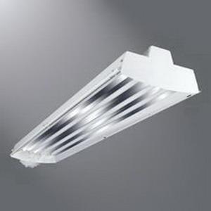 Cooper Lighting I5354T5UNVL5850EBT1U Metalux® 3-Light Suspension/Surface Mount I5 Series T5 Fluorescent High Bay Fixture; 54 Watt, White Baked Enamel