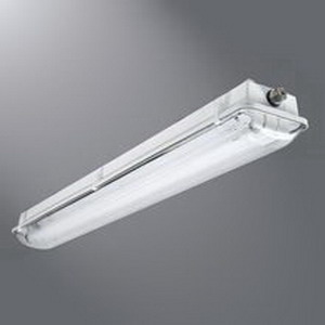 Cooper Lighting VT3-232DR-UNV-EB81-WL-GT4-U Metalux® 2-Light Fluorescent Vapor Tight Light Fixture; 32 Watt, Pearl Gray