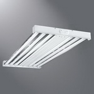 Cooper 6 Lamp High Bay Cooper Lighting HBL654T5-L4 Metalux 6-Light Suspended Mount HBL Series Fluorescent High Bay Fixture; 54 Watt, White Baked Enamel, Lamp Included