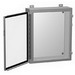 Hammond 1418G6 Enclosure; Wall Mount, 14 Gauge Mild Steel Body and Door, ANSI 61 Gray Cover and Enclosure, White Inner Panel