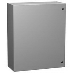 Hammond EN4SD303012GY Enclosure; Wall Mount, 14 Gauge Mild Steel, ANSI 61 Gray
