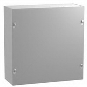 Hammond CS884 CS Series Junction Box; 8 Inch Width x 4 Inch Depth x 8 Inch Height, Screw-On Cover, Mild Steel, ANSI 61 Gray