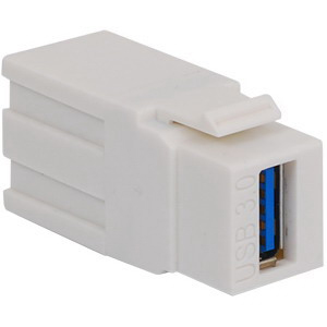 ICC IC107UAAWH 2-Port USB 3.0 Modular Connector; White