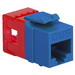 ICC IC1078F6BL High Density Category 6 Modular EZ-RJ45 Connector; 8P8C, Blue