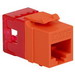ICC IC1078F6OR High Density Category 6 Modular EZ-RJ45 Connector; 8P8C, Orange