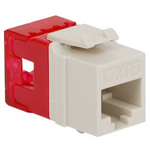 ICC IC1078F6WH High Density Category 6 Modular EZ-RJ45 Connector; 8P8C, White