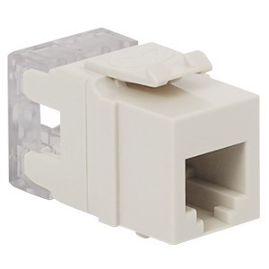 ICC IC1076F0WH High Density IDC Modular RJ11 Connector; 6P6C, White