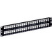 ICC IC107BP482 High Density Patch Panel; Rack Flush Mount, 48-Port, 2-Rack Unit, Black
