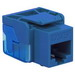 ICC IC1078E5BL EZ® Style Category 5e RJ45 Keystone Modular Jack; Surface Mount, 8P8C, Blue