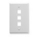 ICC IC107F03WH 1-Gang Configurable Faceplate; Flush, (3) Port, Keystone, ABS Plastic, White