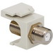 ICC IC107B5FWH RG-59/RG-6 F-Type Connector Keystone Jack Module; Wall/Screw Mount, White