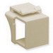 ICC IC107BN0IV Blank Modular Fill-In Jack Insert; ABS, Ivory, 10/Pack
