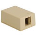 ICC IC107SB1IV Classic Surface Mount Box; Screw Mount, ABS, Ivory, (1) Port