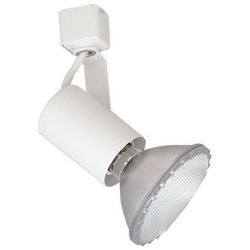 Elco ET647W 1-Light Track Mount Line Voltage Mini Universal Track Head; 75 Watt, White, Lamp Not Included