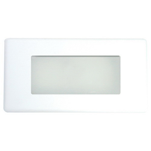 Elco ELST48W Compact Fluorescent Step Light With Lens; 7 - 9 Watt, White Powder-Coated