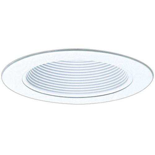 Elco EL993W Line Voltage 4 Inch Phenolic Baffle With Metal Ring; All White