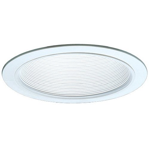 Elco ELM30W Ceiling Mount Line Voltage 6 Inch Trim With Baffle; Metal Baffle, White