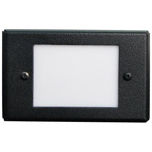Elco ELST66W 1-Gang Receptacle Box LED Mini Step Light With Lens; 0.8 Watt LED, White