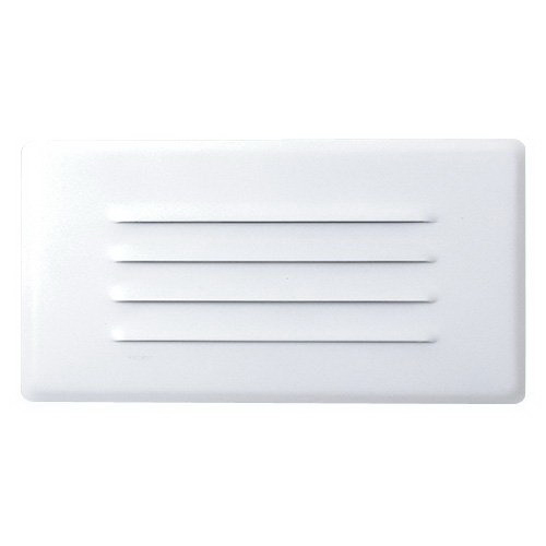 Elco ELST42W Wall Incandescent Step Light With Louvered Faceplate; 40 Watt, White