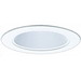 Elco EL993KW Line Voltage 4 Inch Phenolic Baffle With Metal Ring and Socket Holder Bracket; All White
