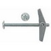 Metallics J1520 Spring Wing Toggle Bolt; Steel, Zinc Chromate, 0.375 Inch Dia x 4 Inch Length