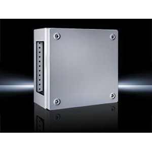 Rittal 1542510 Junction Box 800 mm Width x 120 mm Depth x 200 mm Height- Screw Cover- 18 Gauge Sheet Steel Enclosure and Cover-