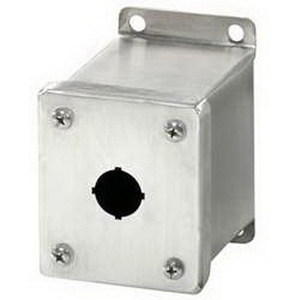 Rittal PB01305S1C Miniature Pushbutton Box; Carbon Steel, RAL 7035, 69 mm Width x 88 mm Depth x 82 mm Height