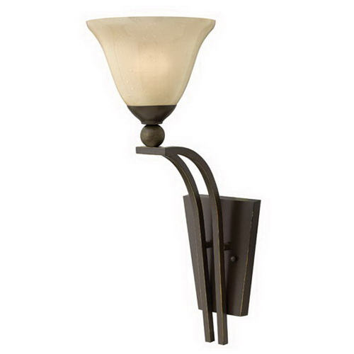 Hinkley Lighting 4670OB Bolla Collection 1-Light Wall Sconce Olde Bronze  Lamp Not Included