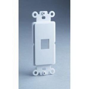 DataComm 20-5142 Faceplate; (1) Keystone, White