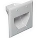 DataComm 45-0002-WH 2-Gang Wallplate; White