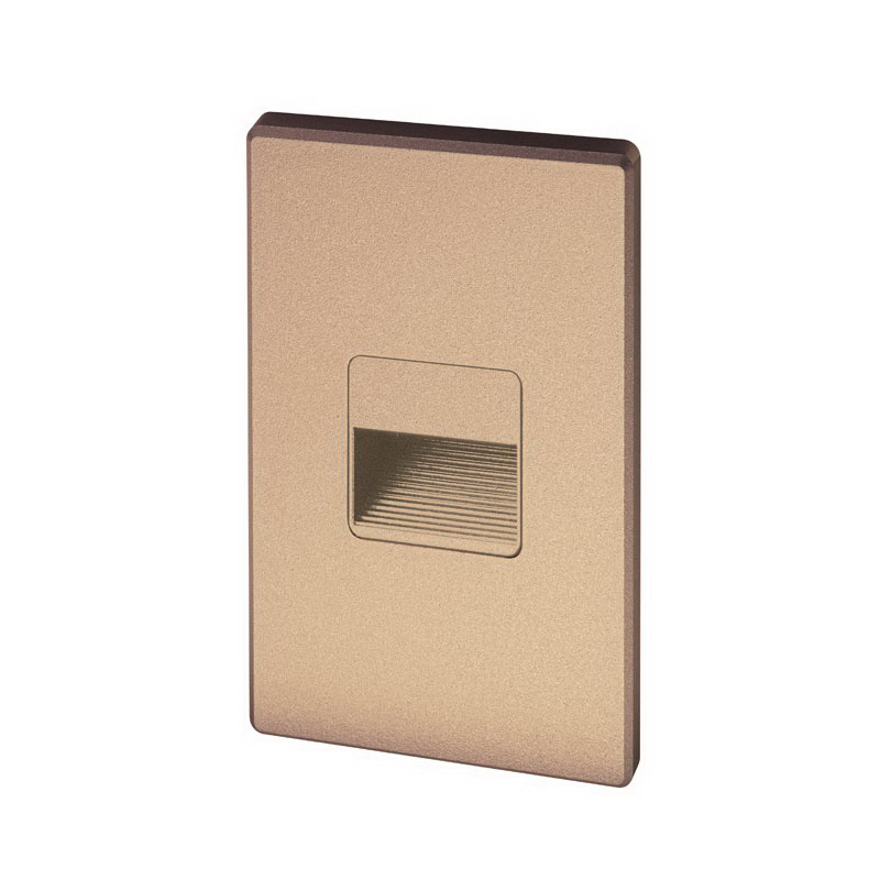 Juno Lighting LMSW-3K-C-BZ 2-Light LED Mini Step Light; 1.3 Watt, 50000 Hour, Textured Bronze