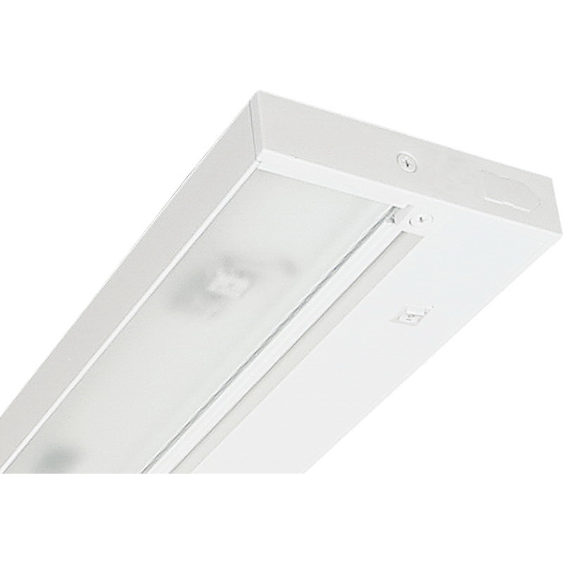 Juno Lighting UPF34-WH 1-Light T5 HE Tri-Phosphor Fluorescent Under-Cabinet Light Fixture; 21 Watt, Designer White