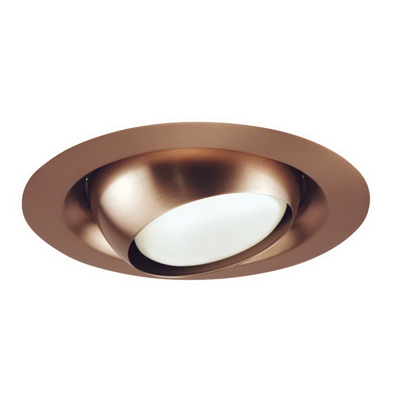 Juno Lighting 229-ABZ Regressed Adjustable 6 Inch Regressed Trim With Eyeball; Classic Aged Bronze