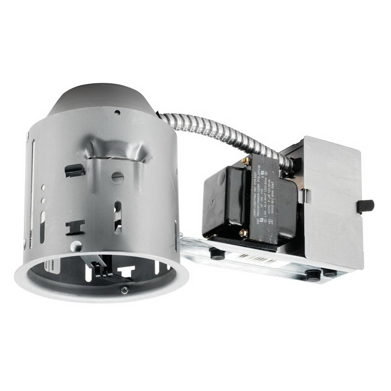 Juno Lighting TC44R 1-Light Ceiling Mount TC Series Low Voltage 4 Inch Remodel Universal Housing; Steel, Bi-Pin Base, Non-Insulated