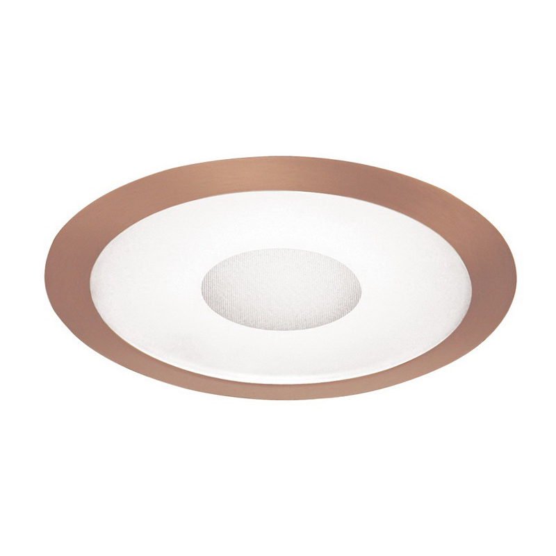 Juno Lighting 242-ABZ Ceiling Mount 6 Inch Trim; Insulated, Frosted Lens, Classic Aged Bronze