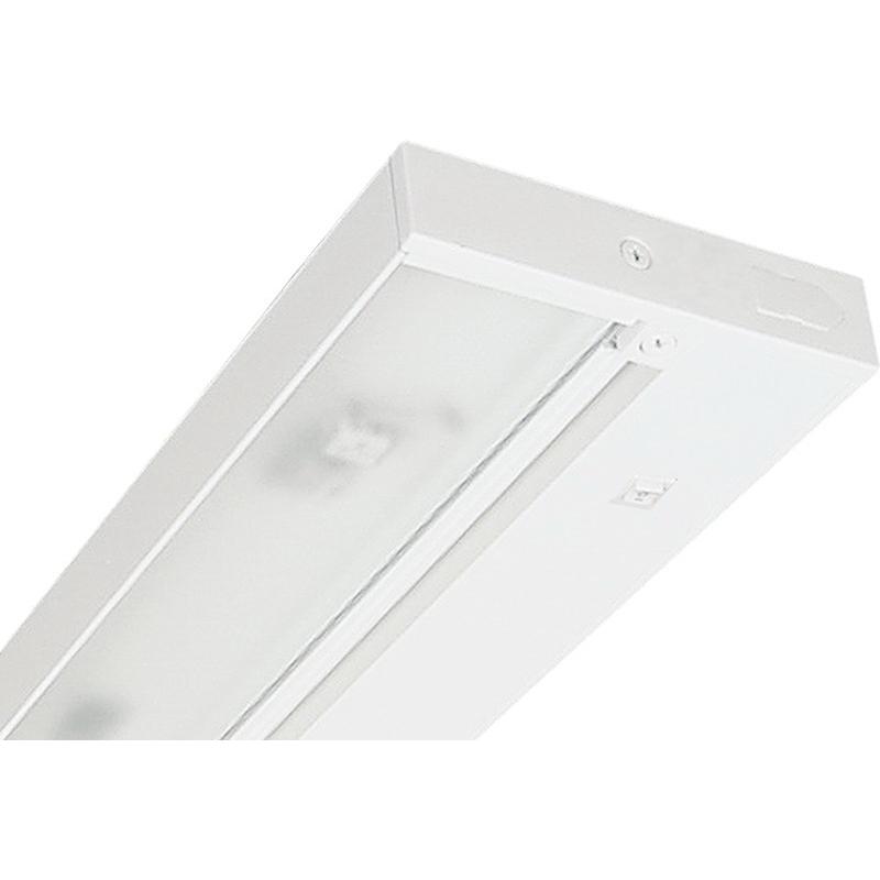 Juno Lighting ULH430-WH 4-Light Halogen Under-Cabinet Light Fixture; 12 Volt, 20 Watt, Designer White