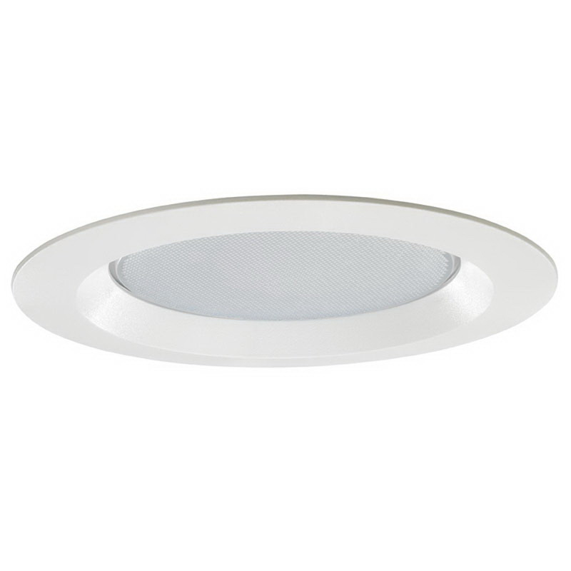 Juno Lighting 20-PW Ceiling Mount 6 Inch Albalite Trim; Insulated, Plastic, White
