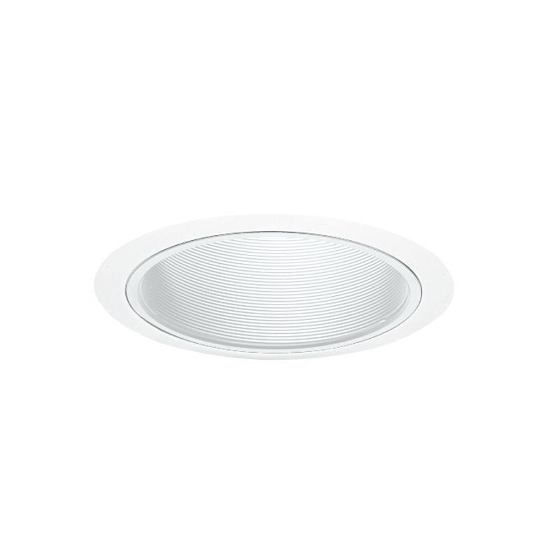 Juno Lighting 25W-WH Straight 6 Inch Trim With Baffle; 7.625 Inch OD x 5.750 Inch Height