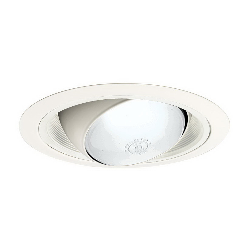 Juno Lighting 249W-WH Ceiling Mount 6 Inch Regressed Eyeball Trim With Baffle; Insulated, White