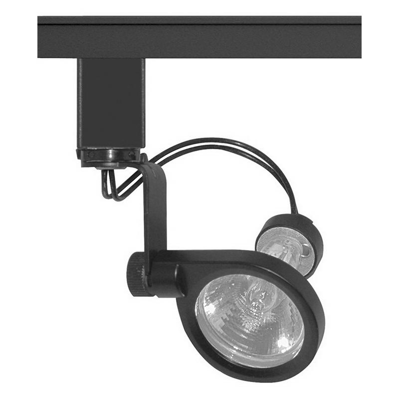 Juno Lighting TL110BL Trac-Master® Halogen Mini Spot Light Track Head; 35 Watt, GU4 Ceramic Bi-Pin Base, Black, Lamp Not Included