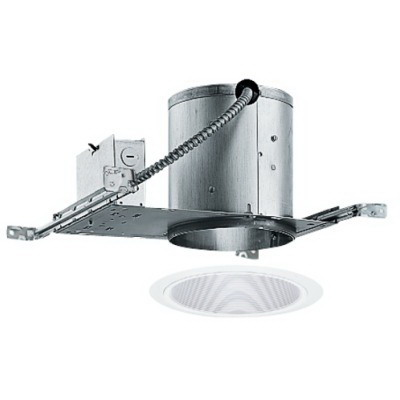 Juno Lighting V3024W-WH VuLite® 1-Light Ceiling Mount 6 Inch Conical Baffle Trim; White