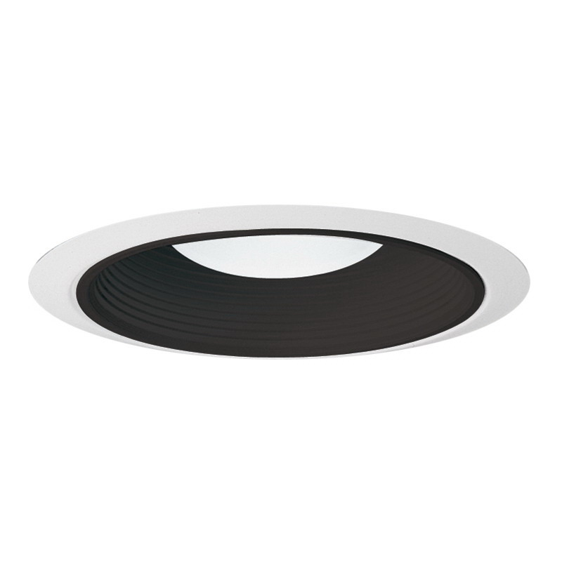 Juno Lighting 28B-WH Ceiling Mount Fully Enclosed 6 Inch Ultra-Trim Baffle; Insulated, Black