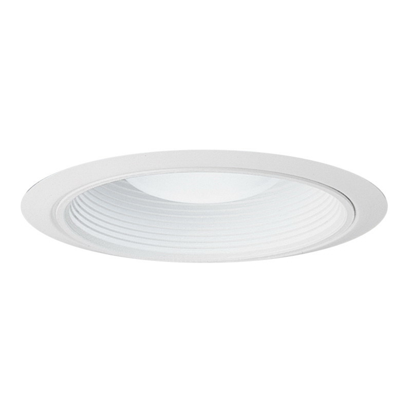 Juno Lighting 28W-WH Ceiling Mount Fully Enclosed 6 Inch Ultra-Trim Baffle; Insulated, White