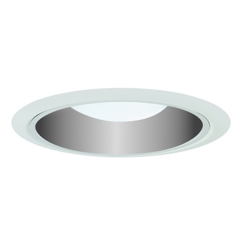 Juno Lighting 29C-WH Ceiling Mount Fully Enclosed 6 Inch Ultra-Trim Cone Baffle; Insulated, Clear, White Trim