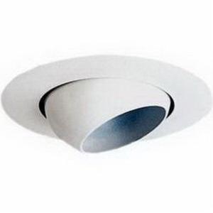 Juno Lighting V3029-WH VuLite® 1-Light Ceiling Mount 6 Inch Adjustable Eyeball Trim; Insulated, White