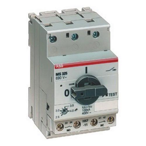 Abb Ms325 16 Ms Series Manual Motor Starter 16 Amp 690 Volt Ac Operational 440 Volt Dc