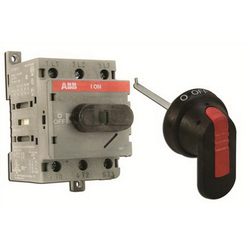 ABB OT63B6-170 Non-Fusible Disconnect Switch Kit; 600 Volt AC, 80 Amp, 3-Pole, 3-Phase, I/O and Off/On Pistol Handle