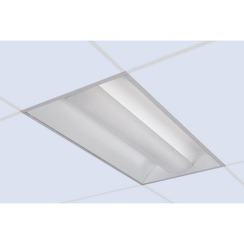 ii 3 light recessed mount direct indirect t8 fluorescent light fixture. Black Bedroom Furniture Sets. Home Design Ideas