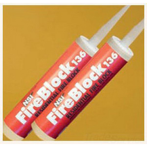 NSI FS-136 FireStop™ Fire Block; Red, 10.3 oz Caulk Tube